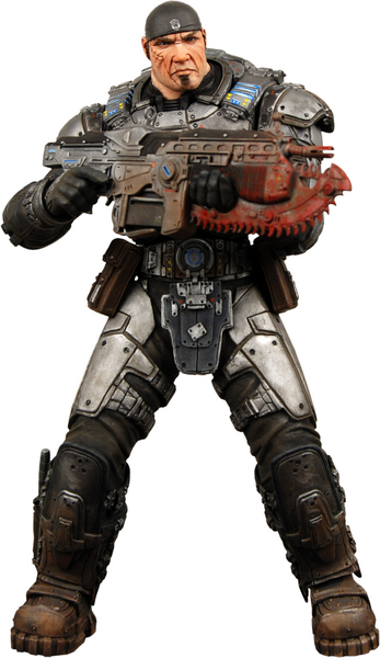 12 Inch Marcus Fenix Gears War Action Figure