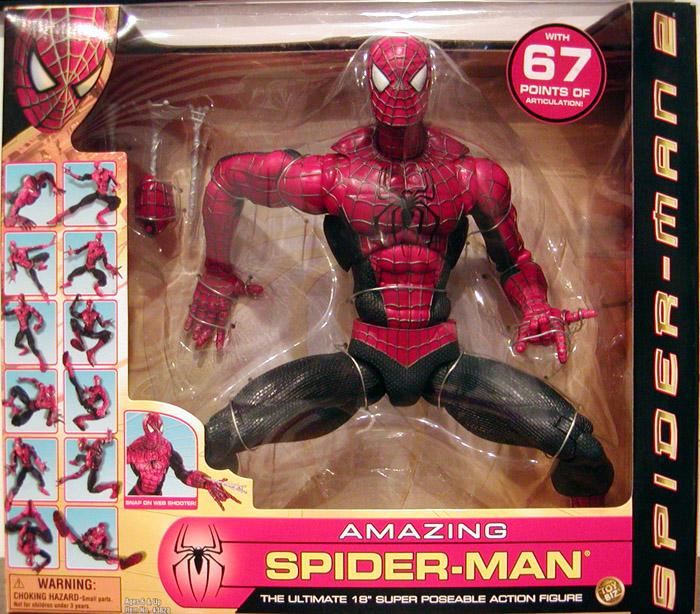 18 Inch Spider Man 2 Toy : Inch super poseable spider man