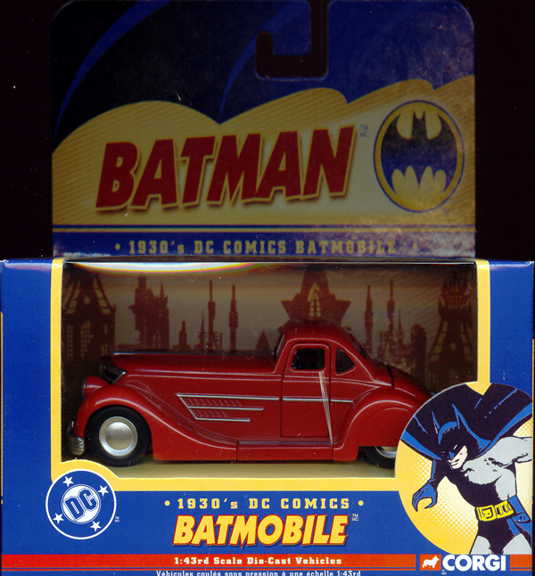 1930s Batmobile, 1-43rd scale die-cast