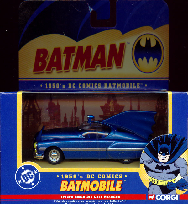 1950s Batmobile, 1-43rd scale die-cast