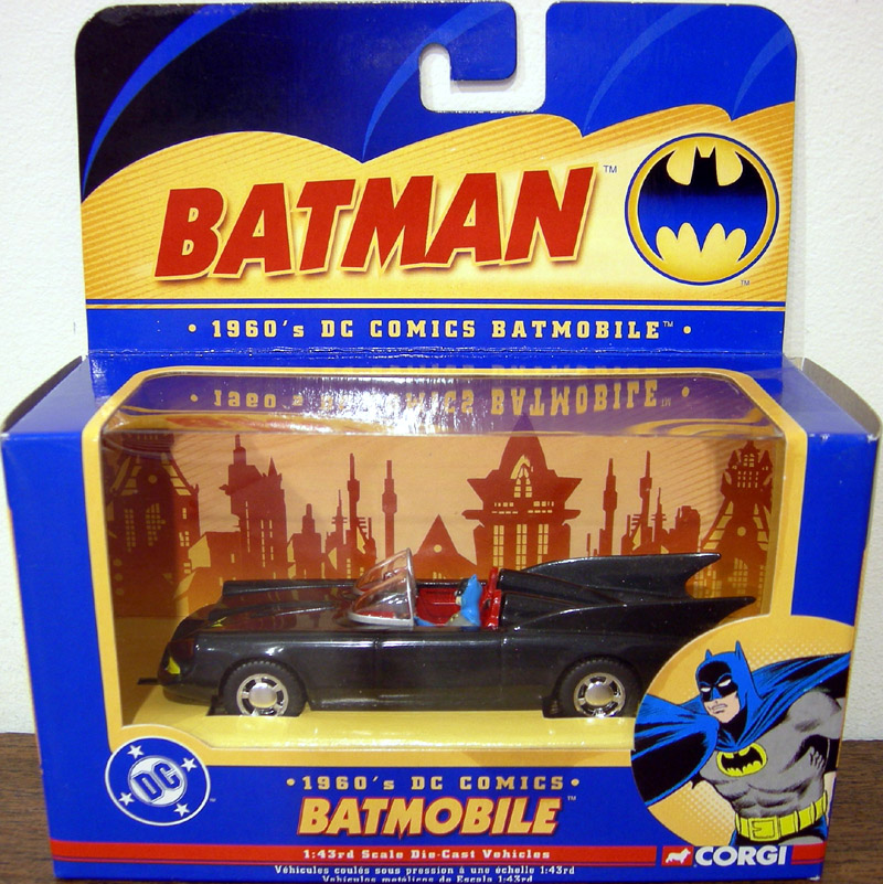 1960s Batmobile, 1-43rd scale die-cast