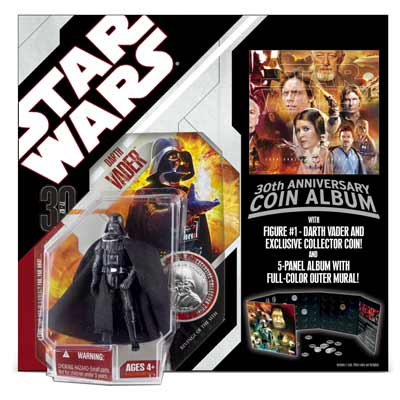 30th Anniversary Coin Album with Darth Vader Figure