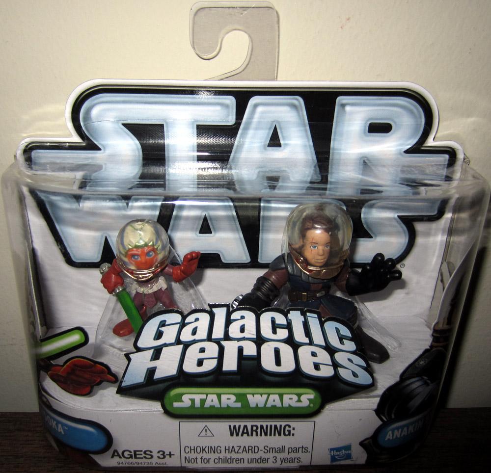 STAR Wars Galactic Heroes Ahsoka /& Anakin Skywalker ACTION FIGURE