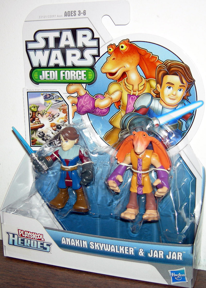Anakin Skywalker and Jar Jar (Playskool Heroes)