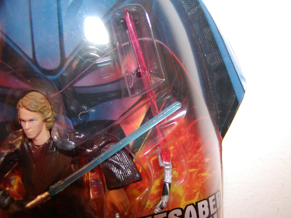 Anakin Skywalker (Revenge of the Sith, 2 with Count Dookus clear lightsaber)