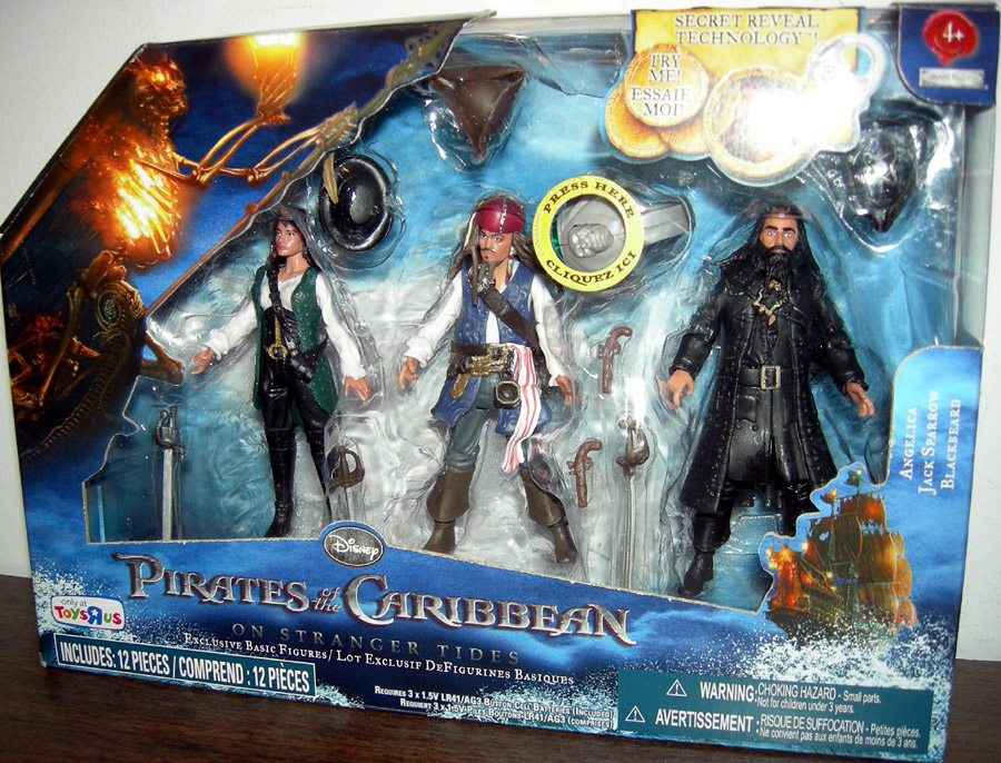 Angelica, Jack Sparrow and Blackbeard 3-Pack (Toys R Us Exclusive)
