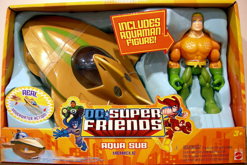 Aqua Sub Vehicle with Aquaman (DC Super Friends)