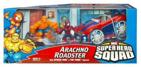 Arachno Roadster with Spider-Man and The Thing (Super Hero Squad)