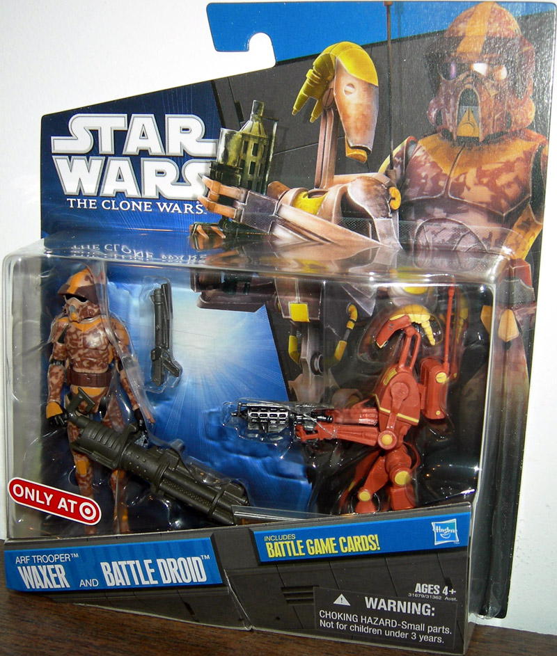 Star Wars The Clone Wars Toys : Arf trooper waxer battle droid action figures star wars clone