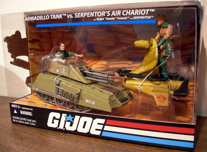 Armadillo Tank vs. Serpentor's Air Chariot