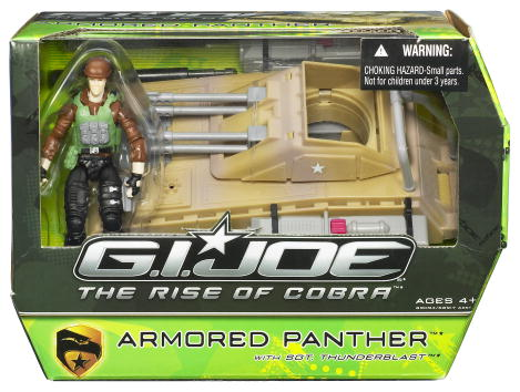 Armored Panther with Sgt. Thunderblast (The Rise of Cobra)