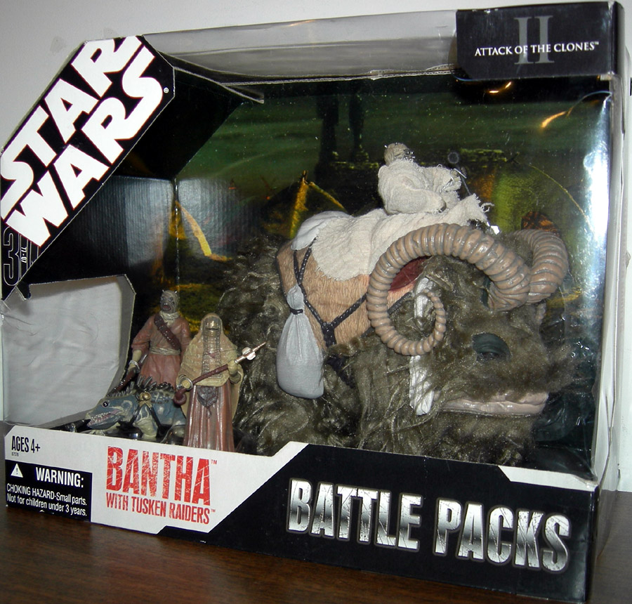 Bantha with Tusken Raiders