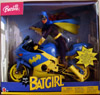Barbie as Batgirl with motorcycle