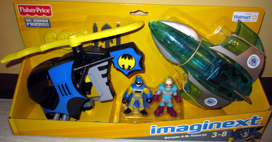Batcopter & Mr. Freeze Jet (Imaginext, Walmart Exclusive)