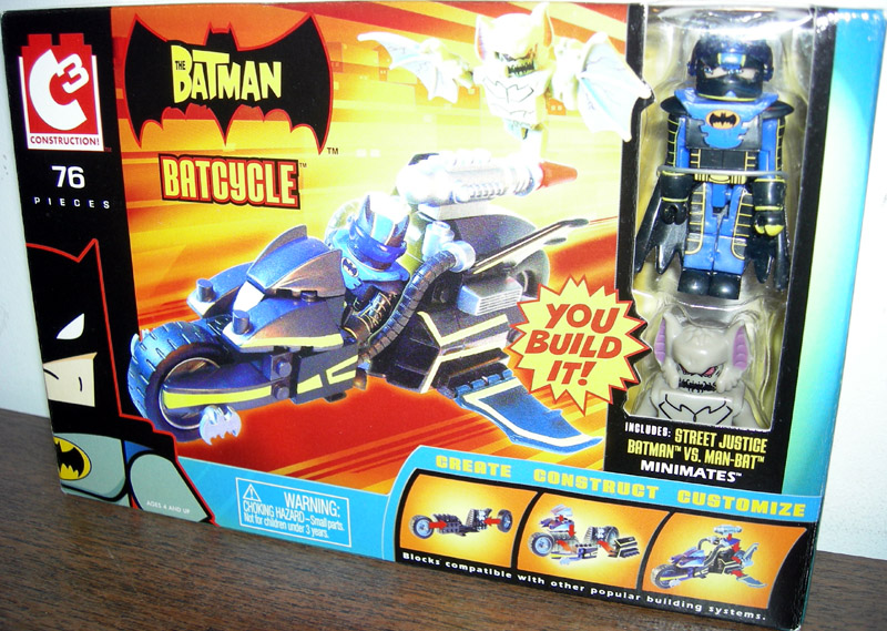 Batcycle (C3 Street Justice Batman vs. Man-Bat Minimates)