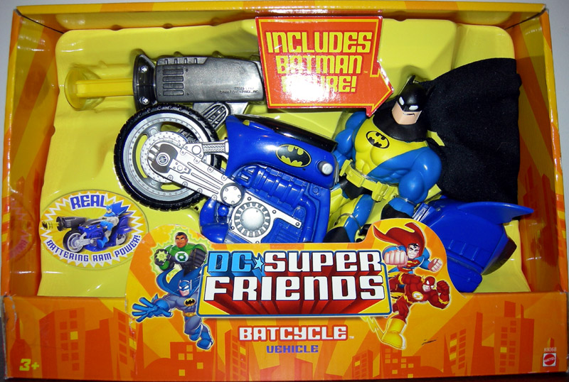 Batman Batcycle and Figure (DC Super Friends)