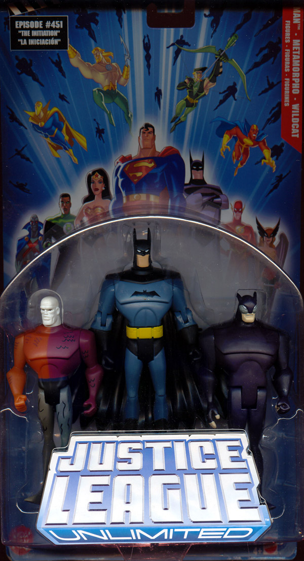 Batman, Metamorpho & Wildcat 3-Pack (Justice League Unlimited)