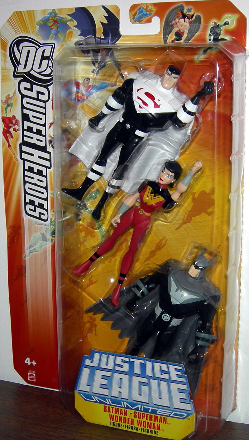 Justice Lords Batman, Superman & Wonder Woman 3-Pack (DC Justice League Unlimited)