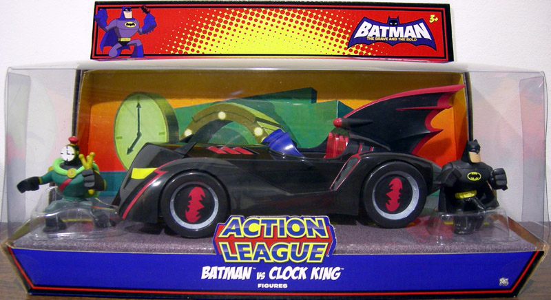 Batman vs. Clock King with Batmobile (Action League)