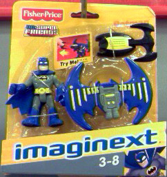 Batman with glider backpack (Imaginext)