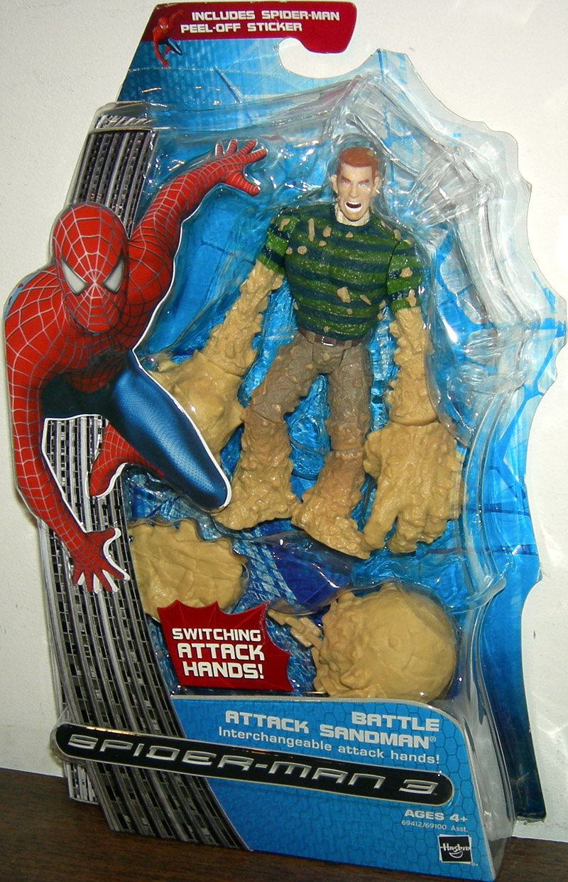 Battle Attack Sandman interchangeable attack hands Spider ...