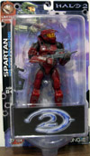 Battle Damaged Red Spartan (Halo 2, Limited Edition)