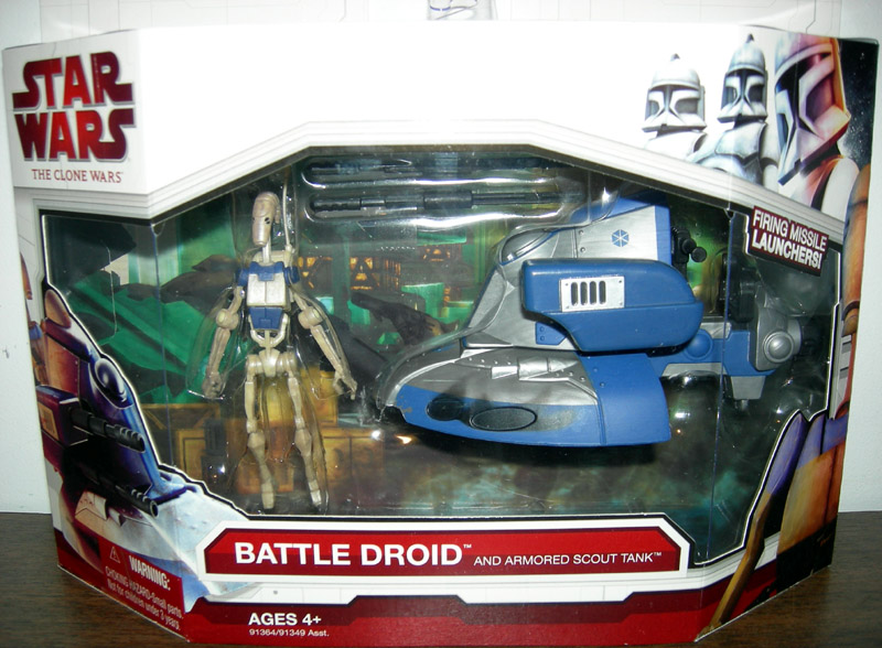 Battle Droid and Armored Scout Tank (The Clone Wars)