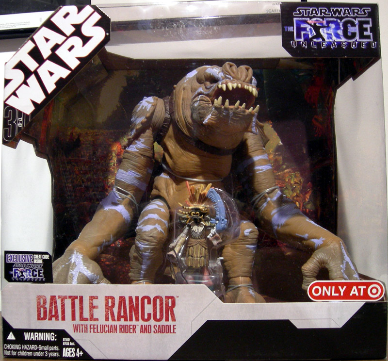 Battle Rancor with Felucian Rider and Saddle
