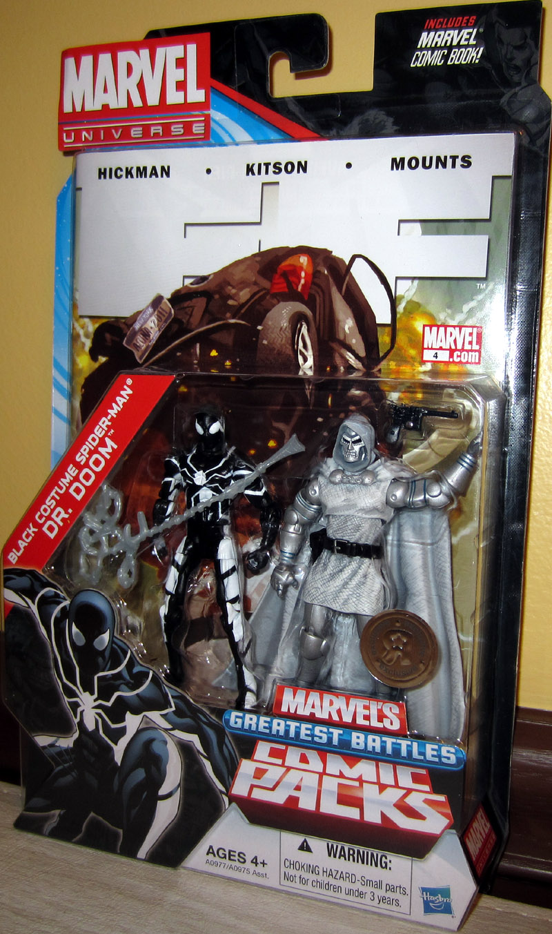 Black Costume Spider-Man vs. Dr. Doom (Marvel Universe, Toys R Us)