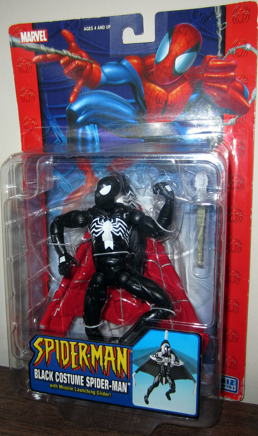 Black Costume Spider-Man with Missile Launching Glider (Classic)