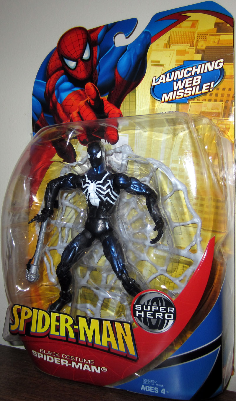 Black Costume Spider-Man (Launching Web Missile)