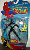 Black Costume Spider-Man with snap-on jet pack, Spectacular Animated
