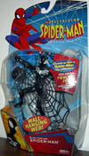 Black Costume Spider-Man with Wall Hanging Web Spectacular Animated