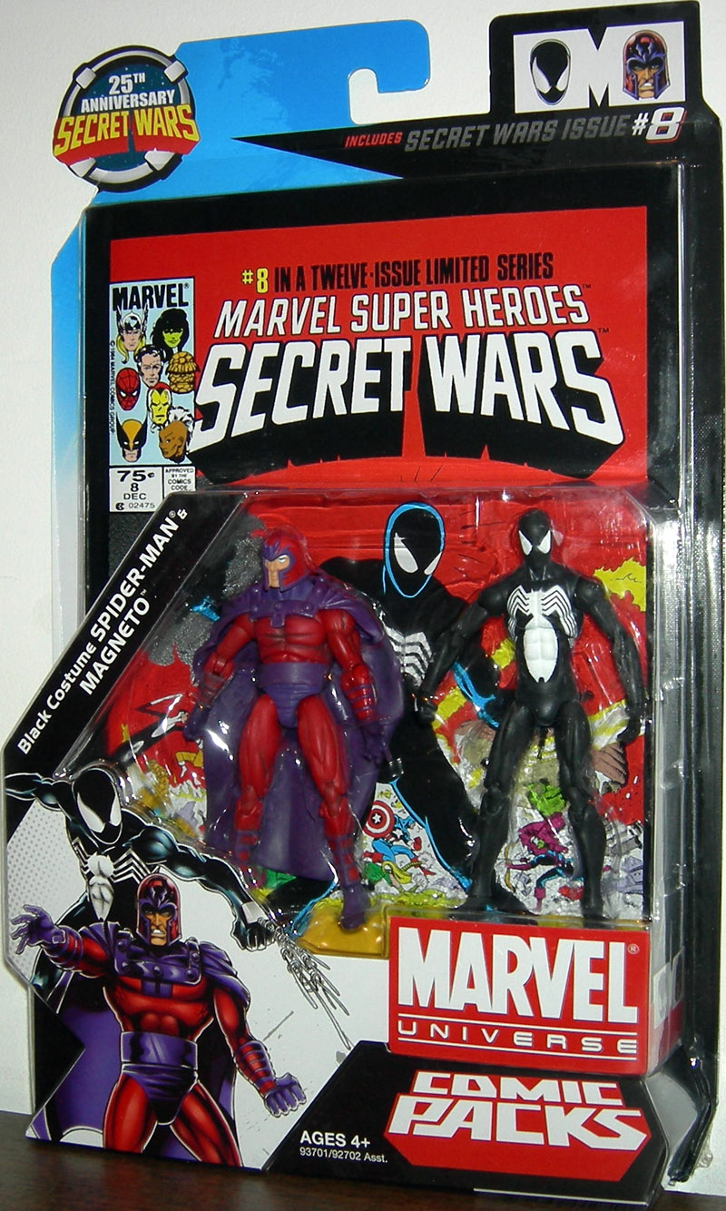 Black Costume Spider-Man & Magneto (Marvel Universe)