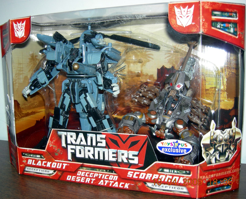 Blackout & Scorponok Decepticon Desert Attack 2-Pack