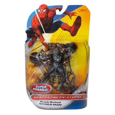 Super Poseable Black-Suited Spider-Man (Trilogy)