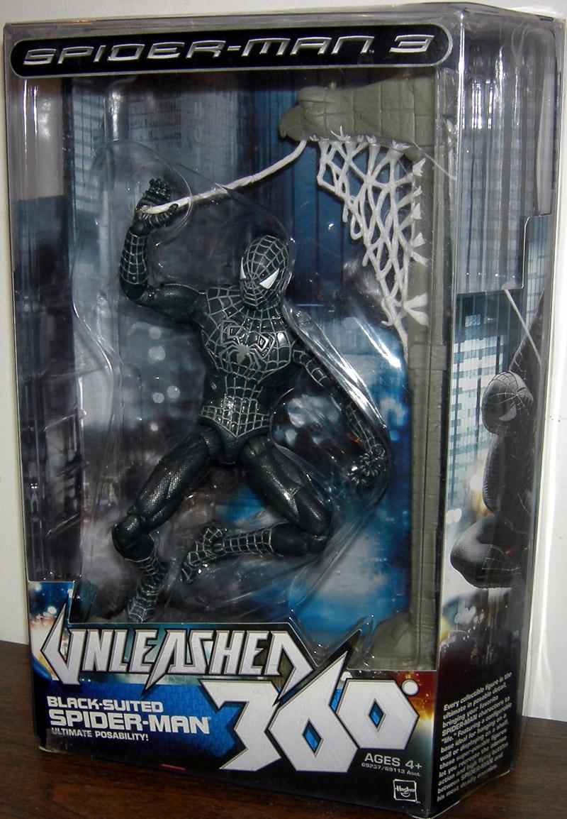 Black Suited Spider Man 3 Figure Unleashed 360 8 Inch
