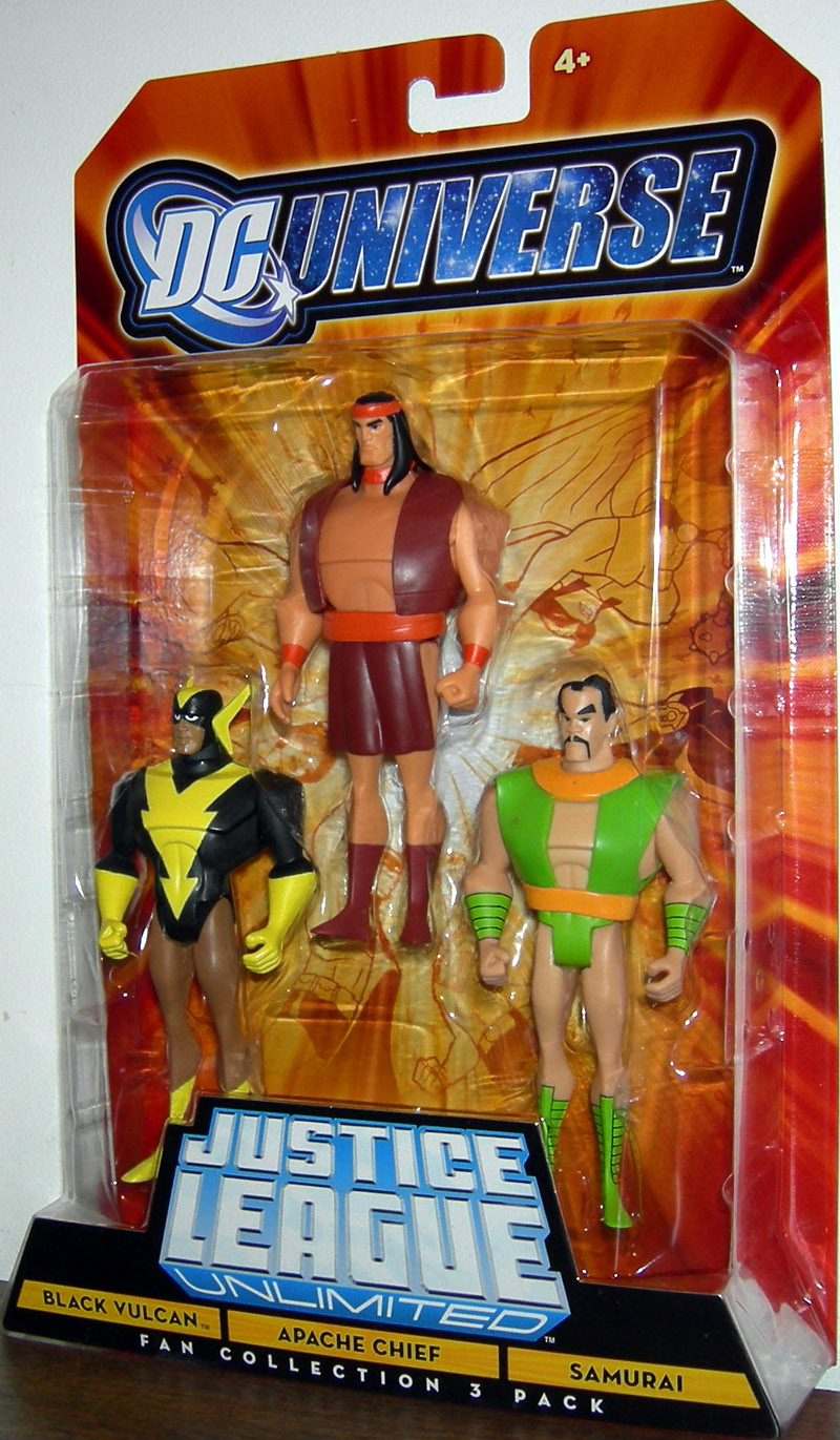 Black Vulcan, Apache Chief & Samurai 3-Pack