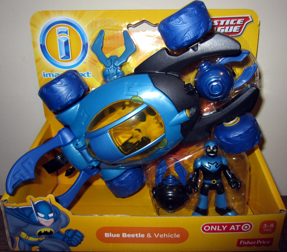Blue Beetle & Vehicle (Imaginext)