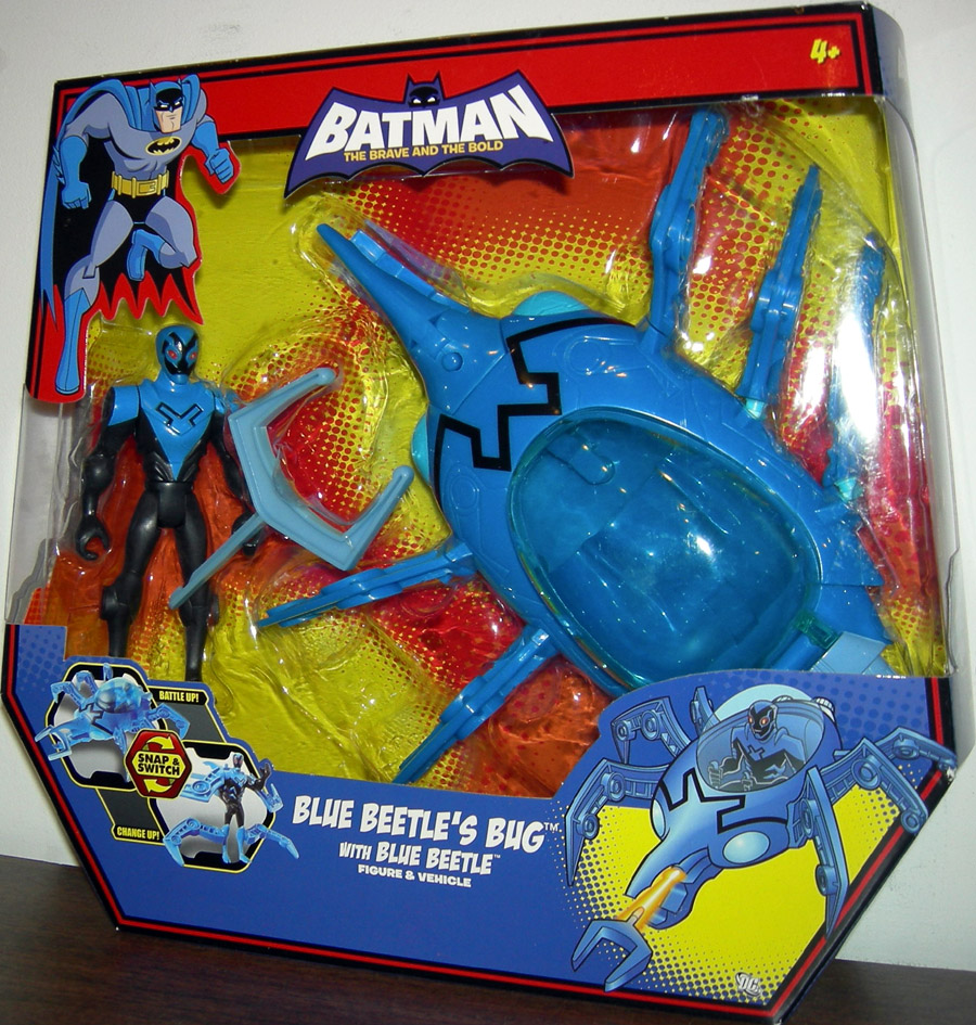 Blue Beetle's Bug with Blue Beetle