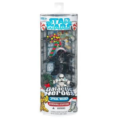 Boba Fett, Darth Vader & Stormtrooper 3-Pack (Galactic Heroes Stocking Stuffers)