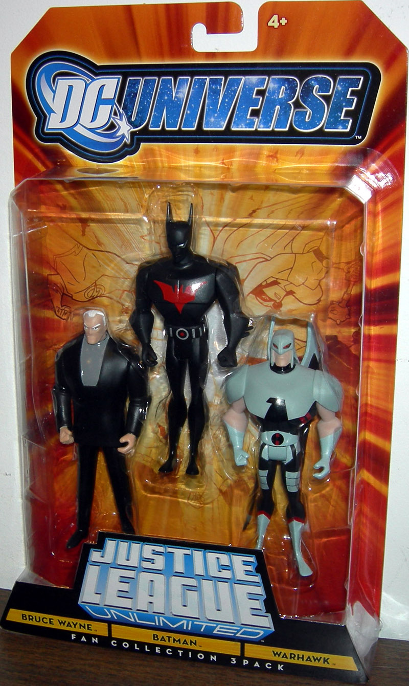 Bruce Wayne, Batman & Warhawk (Fan Collection 3-Pack)