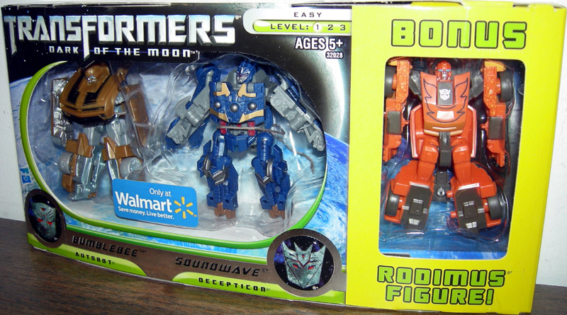 Bumblebee & Soundwave with bonus Rodimus (Walmart Exclusive)