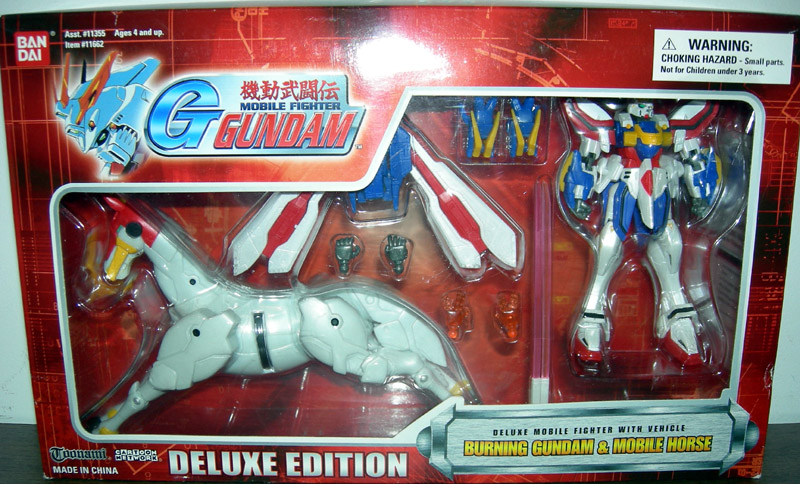 Burning Gundam Wing Mobile Horse Red Box Action Figures