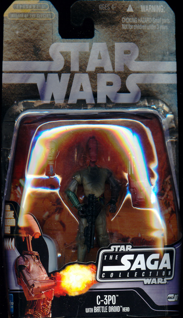 C-3PO (The Saga Collection, #017, with Battle Droid head on body)