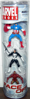Captain America, Punisher & Iron Man 3-Pack (Face Off)