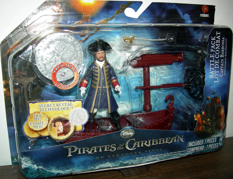 Captain Barbossa with long boat (battle pack)