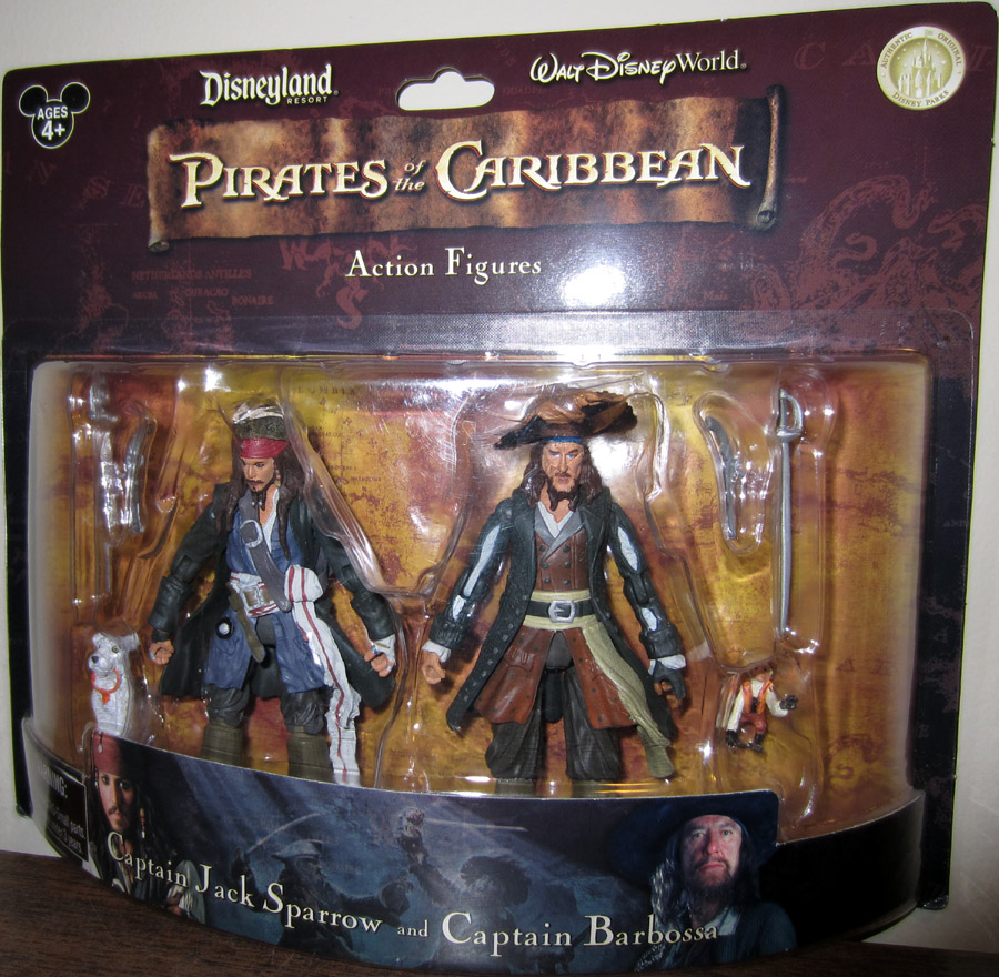 Captain Jack Sparrow and Captain Barbossa (Disney Exclusive)
