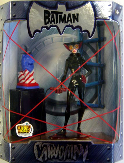 Catwoman, with red, white & blue idol (The Batman, Wizard World)