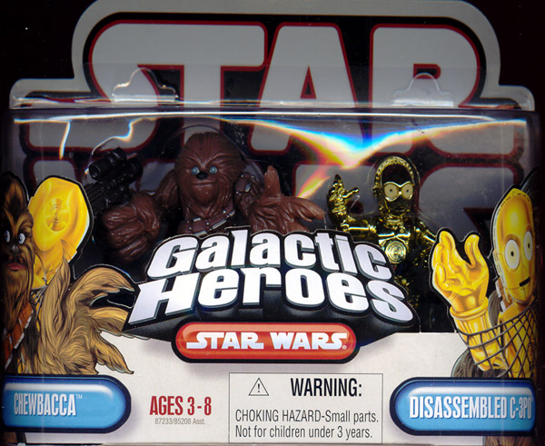 Chewbacca & Disassembled C-3PO (Galactic Heroes)